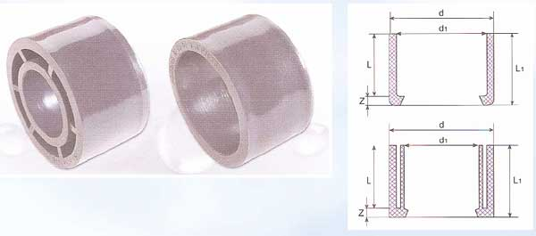 Pressure Pipe Fittings - Reducing Bush with Solvent Socket - (U-PVC)